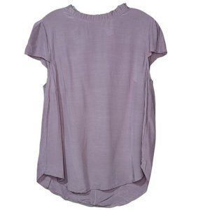 "Apricot ""Lilac you a lot"" Silky Blouse NWT XL"